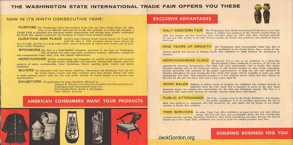 9th Washington State International Trade Fair brochure (Seattle, 1960)