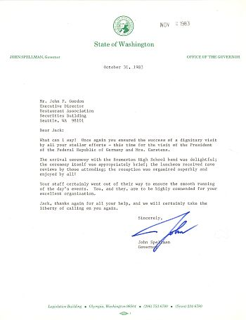 Jackgordon president of west germany karl carstens in seattle thank you letter from washington governor spellman to visit chairman jack gordon expocarfo